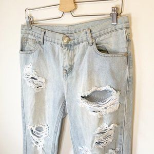One Teaspoon Distressed Awesome Baggies Size 6